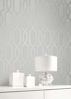 This Stunning Modern Trellis Design Is Printed Onto A Pearlised Metallic  Background Using Mini ...
