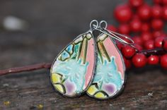 ceramic earrings unique gift ceramic amazing unique by zolanna