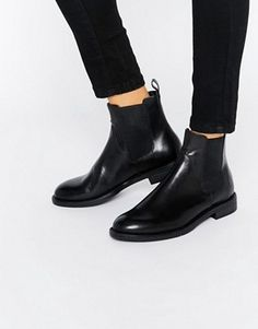 Image 1 of Vagabond Amina Black Leather Chelsea Boots Latest Fashion Clothes, Fashion Shoes, Fashion Online, Buy Shoes, Me Too Shoes, Black Chelsea Ankle Boots, Mode Ab 50, Expensive Shoes, Black Booties