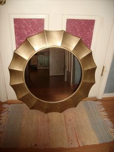 Large Gold Painted Resin 30 Round Wall by ShabbyPinkFlamingo, $195.00
