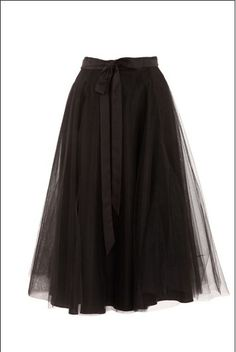 Black tulle skirt - a smidge shorter please....