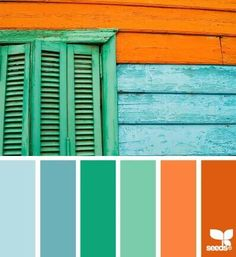 Another great palette by design seeds. Scheme Color, Orange Color Schemes, Blue Colour Palette, Color Palate, Green Colors, Colours, Beach Color Schemes, Color Red, Orange Color Combinations