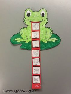 Carrie's Speech Corner: Articulation Frogs ~ A Craftivity The Big Wide-Mouthed Frog Articulation Therapy, Articulation Activities, Speech Therapy Activities, Language Activities, Play Therapy, Therapy Ideas, Frog Activities, Speech Language Pathology, Speech And Language