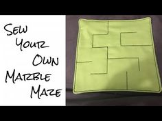 Video Tutorial on how to make a fabric Marble Maze. The video got slightly out of order when I uploaded, it only affects the drawing on the maze pattern sect. Sewing Tutorials, Sewing Projects, Sewing Ideas, Diy Fidget Toys, Youtube Sewing, Marble Maze, Maze Game, Fidget Blankets, Fidget Quilt
