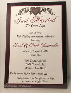 63 Best Wedding Anniversary Invitations Images Wedding