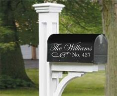 Mailbox Decal  Address Mailbox Decal  by FineArtDecals on Etsy