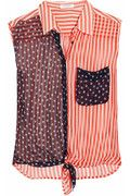 EQUIPMENT - Diem stars and stripes-print silk-georgette shirt