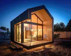 The 200 sq ft Cinder Box by architects Hunter Floyd @huntflo and Damon Wake @dvwake . More images @TinyHouzz #interiors #interiordesign #architecture #decoration #interior #home #design #bookofcabins #homedecor #decoration #decor #prefab #smallhomes #instagood #compactliving #fineinteriors #cabin #tagsforlikes #tinyhomes #tinyhouse #like4like #FABprefab #tinyhousemovement #likeforlike #houseboat #tinyhouzz