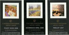 Etiquetas vinos COLONA VINEYARDS.Canada Ver más en etiquetasvinoarte.blogspot.com