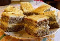 Krémes bögrés -almás, mákos, diós Hungarian Cake, Hungarian Recipes, Hungarian Food, Sweet Cookies, Cake Cookies, Poppy Cake, Homemade Sweets, Romanian Food, Thing 1