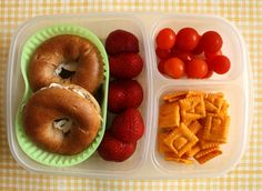 Even if you don't do the fancy prep on the foods, she's got some good ideas for kids' school lunches. I may be able to get some variety into C after all.