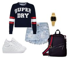"""""""navy"""" by milbast-chant ❤ liked on Polyvore featuring Abercrombie & Fitch, Superdry, adidas Originals, Tommy Hilfiger and Casio"""