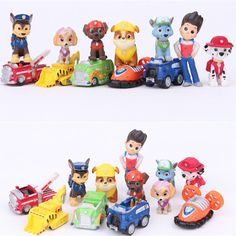 12pcs Paw Patrol Cake Toppers Action Figures Puppy Patrol Dog Kids Toy Gift Set