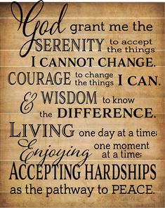 God Grant Me Serenity Prayer Inspirational Wood Sign Canvas