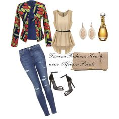 Oh...YAZ...This is me - but with a black leather sandal and thicker heel. Tswana Fashions How to wear African Prints.... - Polyvore
