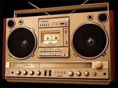 Boombox: a large portable radio and often tape player with two attached speakers Vintage Boombox and Ghetto Blaster Museum Radios, Old School Radio, Hip Hop Instrumental, Dolby Digital, Rap Music, Audio Music, Hip Hop Rap, Boombox, Thing 1