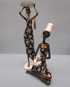 Resultado de imagen para africanas en ceramica African Figurines, African American Figurines, Black Figurines, African American Art, African Women, African Art Paintings, Newspaper Art, African Dolls, Biscuit