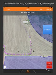 Sirrus is the precision ag app that allows you to create field boundaries, soil sample, scout your crops, record field operations, create recommendations, check weather conditions and graph rainfall estimates per field. It's currently available in iTunes.