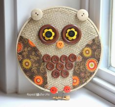 Repeat Crafter Me: Embroidery Hoop Owl