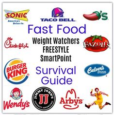 UPDATED FOR FREESTYLE PROGRAM.. Restaurant and Fast Food Survival guide with Weight Watcher Freestyle SmartPoints (10 SP or less) - Meal Planning Mommies