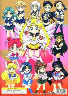 Sailor Moon Drops, Sailor Moon Girls, Sailor Moon Stars, Sailor Chibi Moon, Sailor Uranus, Sailor Moon Crystal, Sailor Mars, Sailor Scouts, Princesa Serenity