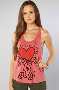 Obey The Keith Haring Limited Series Red Heart Slouchy Racerback Tank : Karmaloop.com - Global Concrete Culture