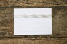 Oh So Beautiful Paper: Bettina + David's White and Gold Winter Wedding Invitations