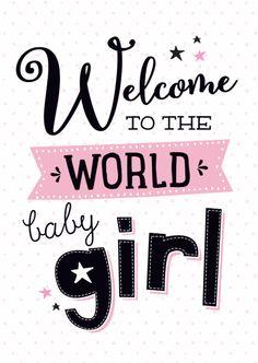 54 new Ideas baby girl born congratulations quotes Welcome Baby Girl Quotes, Welcome Baby Girls, New Baby Girls, Baby Boy Quotes, Baby Girl Wishes, Baby Girl Cards, Baby Silhouette, Newborn Baby Quotes, Congratulations Baby Girl