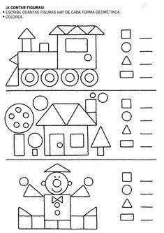 Coloring Page Home 2019 crafts worksheets coloringpage printable craftsforkids kindergarten preschool Kindergarten Math Worksheets, Preschool Learning, Teaching Math, Preschool Activities, Spanish Activities, Shapes Worksheets, 1st Grade Math, Math For Kids, Kids Education