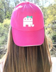Future First Lady  - Pink GOP Baseball Hat, $11.99 (http://www.futurefirstlady.net/pink-gop-baseball-hat/)