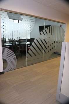 Branded frosted window graphics for the conference room at LIghtwell's United States headquarters, Columbus, OH –  www.lightwellinc.com   www.smartboxcreative.com Frosted Window Film, Window Graphics, Interior Design Inspiration, Showroom, Conference Room, Stairs, United States, Branding, Windows
