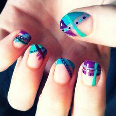 Creative nails.