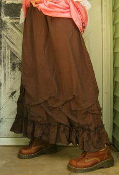Long Ruffle Skirt @ $110
