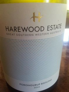 #HarewoodEstate #Porungurup #Riesling 2013  (#RNAWA13)
