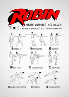 Instructions : Repeat each move one after the other with no rest in between until the set is done, rest up to 2 minutes and repeat the whole set again as many times as you can depending on your fitness level – maximum of 10 sets. Download High...