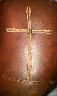 Barbwire Cross by JLPHDesigns on Etsy, $15.99