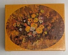 Vintage American Greetings Puzzle Daisies Oval Fitting Reminder 300 Pieces 1971 #AmericanGreetingsCorporation