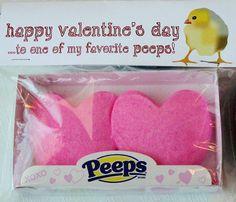 Peep Valentine topper...  I say Peep on and keep calm.I LOVE Peeps~
