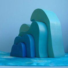 Wooden Toy Ocean Wave Stacker Dollhouse  by TheEnchantedCupboard, $40.00