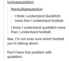 Haha football! #HarryPotter