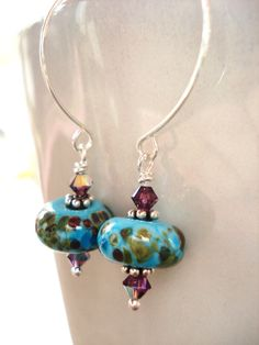 Handcrafted Jewelry Handmade Earrings Fun Hoops with by JensFancy, $25.00