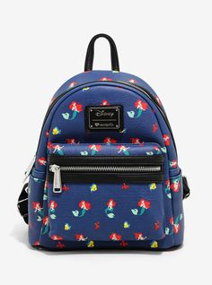bab58ed69b Loungefly Disney The Little Mermaid Flounder   Sebastian Mini Backpack