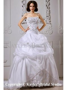 Satin Sweetheart Cathedral Train Ball Gown Wedding Dress