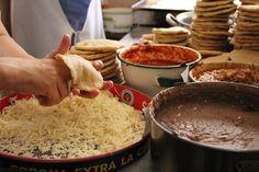Gorditas estilo Aguascalientes tipicas de esta region las encuentras e todas las csnadur u as al igual que sopes tostadas tacos dorados rico pozole y menudo.