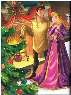 """Aurora's Homemade Holiday"" - prettyful DP Christmas book, scans part II - Disney Princesses Walt Disney, Disney Princess Aurora, Disney Princess Fashion, Disney Princess Dresses, Disney Couples, Disney Magic, Disney Art, Disney Crafts, Pixar"