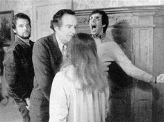 William Friedkin on set The Exorcist (1973)