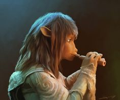 Jen from The Dark Crystal by *euclase Fan Art / Digital Art / Drawings / Movies & TV Fantasy Films, Fantasy World, Fantasy Art, Dark Crystal Movie, The Dark Crystal, Brian Froud, The Neverending Story, The Last Unicorn, Legends And Myths