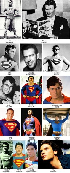 The many Different actors who have portrayed Superman