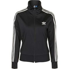Firebird Track Top Jacket by Adidas Originals (710 HRK) ❤ liked on Polyvore featuring activewear, activewear jackets and black