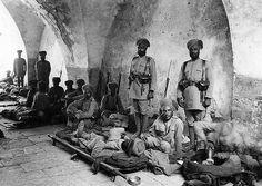 Sikh Regiment In Jerusalum under the British Empire.